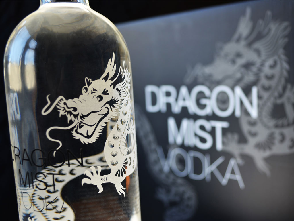 Dragon Mist bottle and bottle case