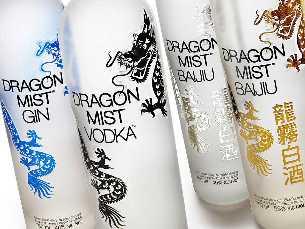 Dragon Mist Distillery bottle designs