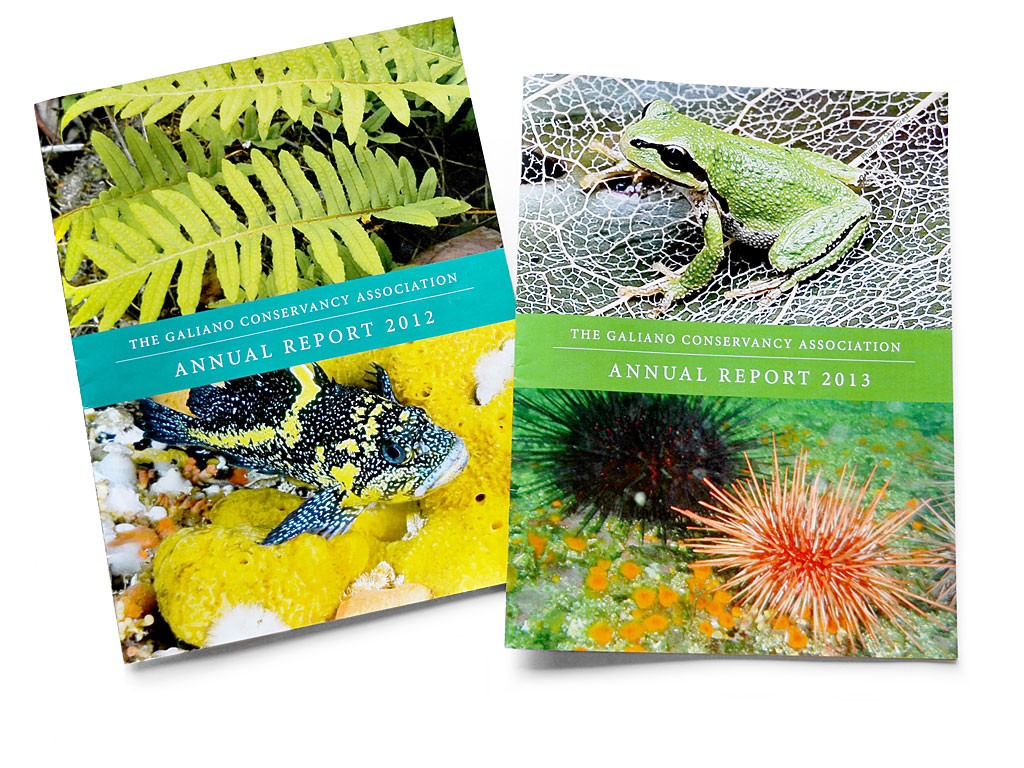 annual reports for Galiano Conservancy