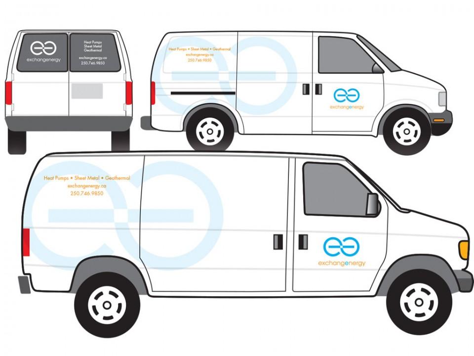 brand development and fleet graphics for Exchange Energy Geoexchange Consultants