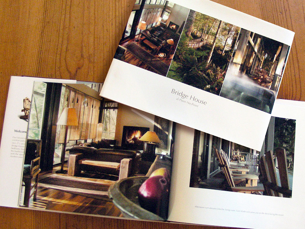 hard cover photo book for Bridghouse at Point No Point resort