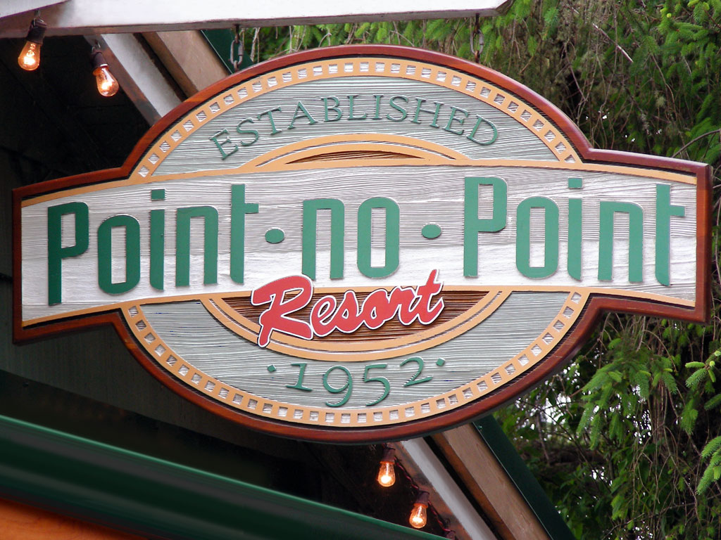 sand blasted cedar signage for point no point resort