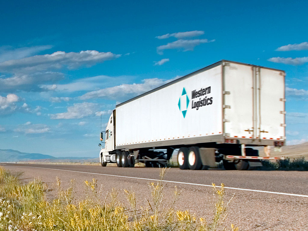 Western Logistics truck on the road