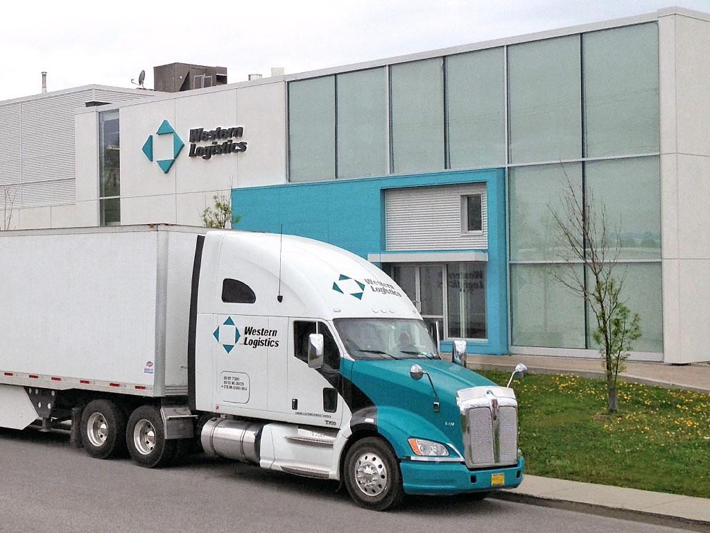 Western Logistics truck at terminal