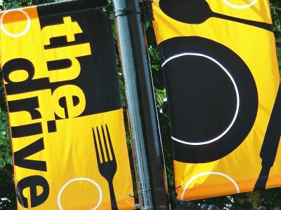 Commercial Drive street banners were designed by Far & Wide from 2000 to 2013