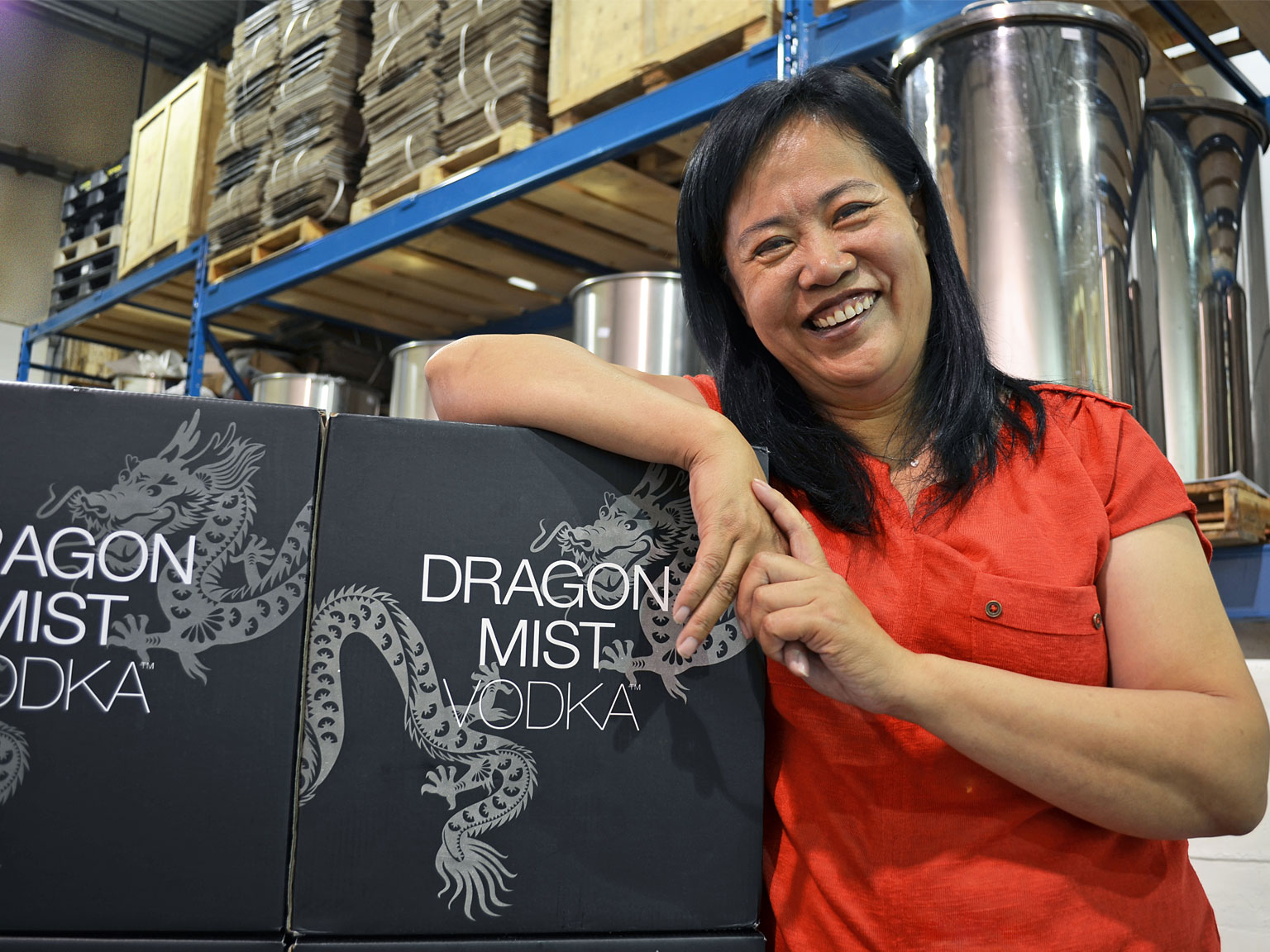 Sherry Jiang, master distiller at Dragon Mist Distillery