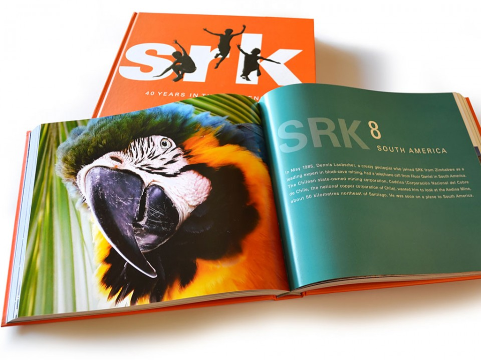 book design for SRK Consulting's 40 year history