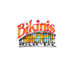 BikinisThis broiler/bar provides patrons with á la carte ingredients and professional grill facilities where they can prepare their own meals. Preliminary thumbnail sketches for the logo seemed to capture Bikini's spontaneous party atmosphere and were finished with a minimum of tweaking.  Design: Ian McSorley