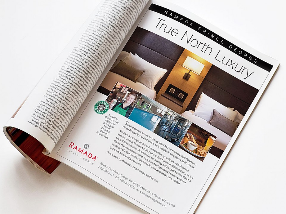 hotel marketing communications print ad